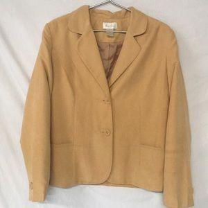 Studio Works Light Tan Blazer Jacket Size:12 AAJ